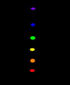 lichaam met chakra kleuren